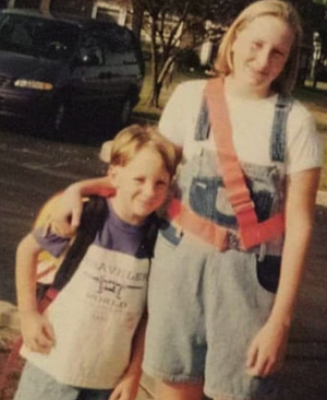 a photo of Ashley with your younger brother