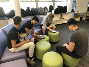 Students in non-traditional classroom