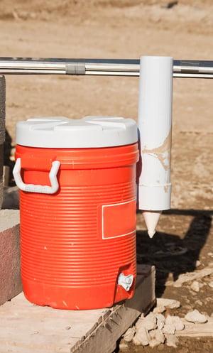 Orange water cooler