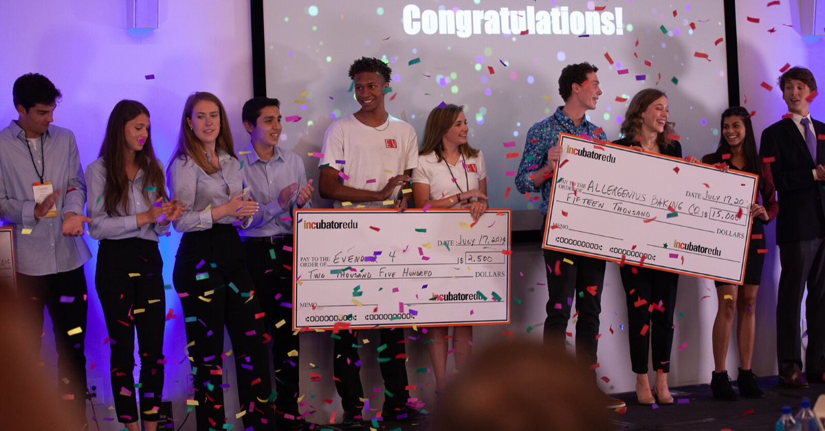 INCubator students winning money for college