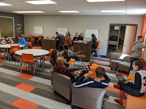 Photo of high school classroom