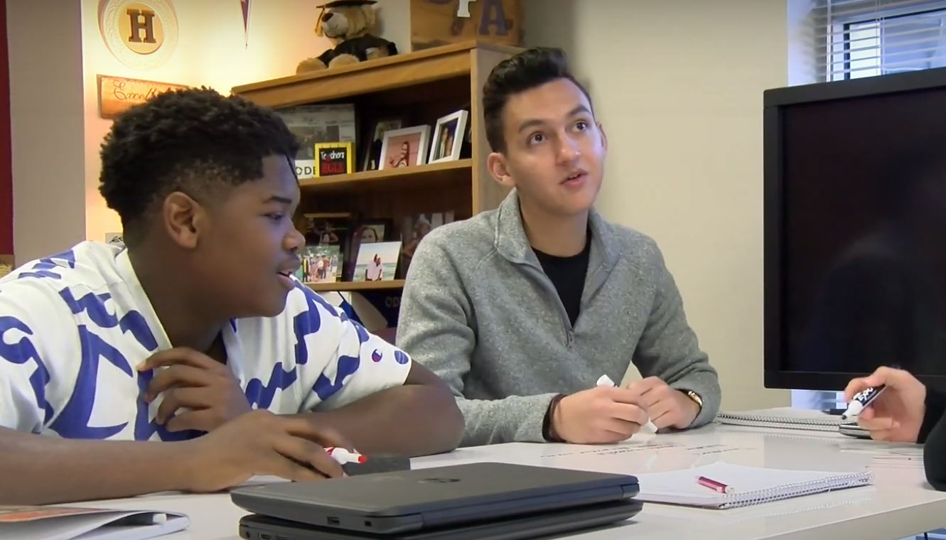 Frisco ISD INCubatoredu students
