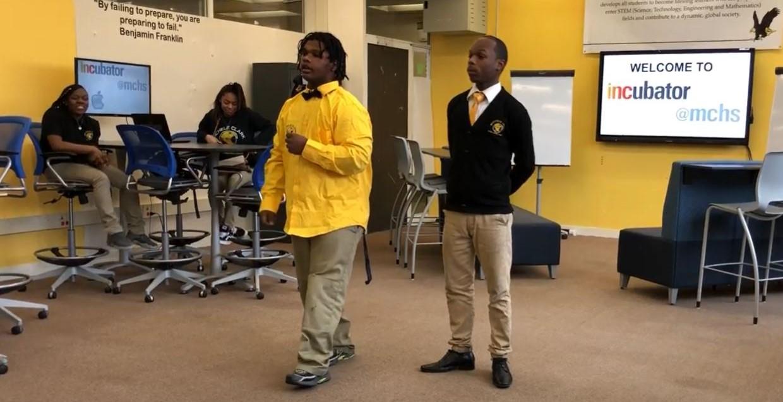 Michelle Clark High School INCubatoredu students